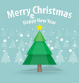 Pine tree and snow theme merry christmas and