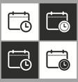 planning calendar icon pictogram vector image