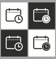 planning calendar icon pictograph vector image