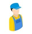 Plumber repairman isometric 3d icon vector image vector image