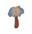 prehistoric stone axe stone age symbol weapon of vector image