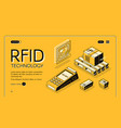 radio-frequency identification web banner vector image vector image