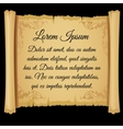 Rolled parchment poster with sample text vector image vector image