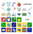school and education cartoon icons in set vector image vector image