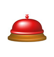 service bell in red design vector image