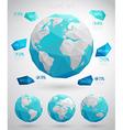 set globes vector image vector image