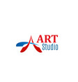 sign of art studio vector image
