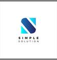 simple initial letter s shape logo design template vector image