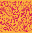 sing seamless pattern bright vector image vector image