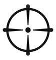 sniper scope icon simple style vector image