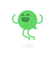 speech bubble message kawaii character vector image vector image