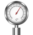 Temperature meter gauge vector image