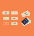 ticket or coupons template mockup set vector image