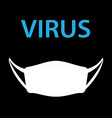 virus with hygiene mask vector image