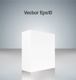 White cube vector image vector image