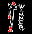 winner red gloves vector image
