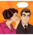 Young Woman Whispering Secret to her Husband vector image