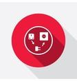Electric plug icon Adapter symbol European vector image
