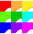 Set of Curled Colorful Paper Square Sheets vector image
