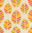 leaves autumn watercolor pattern vector image
