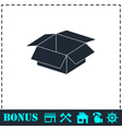Open box icon flat vector image