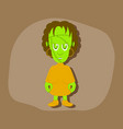 paper sticker on stylish background zombie woman vector image