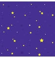 Night sky seamless cartoon pattern vector image