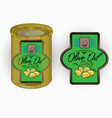 a label of olive oil vector image vector image