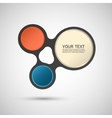 abstract colored shapes on a white background vector image