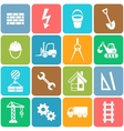 abstract construction icons vector image