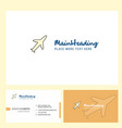 aeroplane logo design with tagline front and vector image vector image