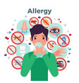 allergy concept vector image vector image