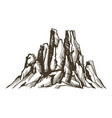 arizona rocky mountains wild west iconic vector image