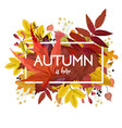 Autumn season floral watercolor style card