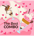 best combo ice cream and donut promo banners vector image