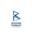 blockchain technology letter b icon vector image