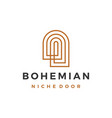 boho niche door bohemian logo icon vector image vector image