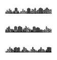 building icon set vector image vector image