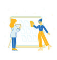 business team working together planning and vector image