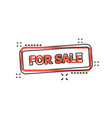 cartoon for sale seal stamp icon in comic style vector image vector image