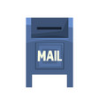 cartoon of blue outdoor mailbox vector image vector image