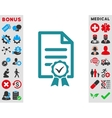 Certified Icon vector image vector image