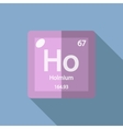 Chemical element Holmium Flat vector image vector image