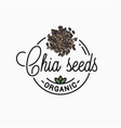 chia seeds logo round linear superfood vector image