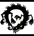 chinese dragon silhouette vector image vector image