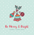 christmas holiday bauble decoration cartoon card vector image vector image