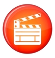 Clapperboard icon flat style vector image vector image