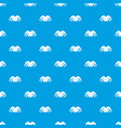 clown hat pattern seamless blue vector image vector image