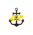 coast guard day anchor with ribbon vector image vector image