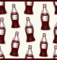 cola in glass bottles seamless hand drawn vector image